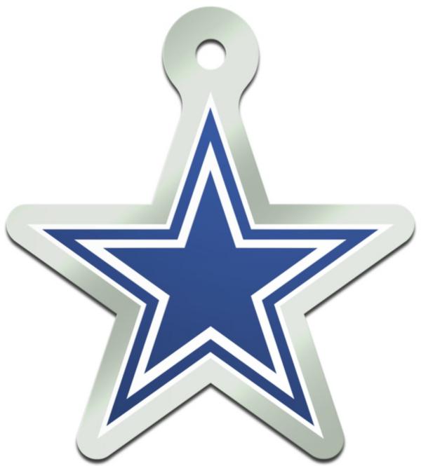 Dallas Cowboys Metallic Freeform Keychain