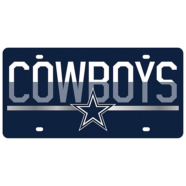 Dallas Cowboys Mirror Accent Duo-Tone License Plate
