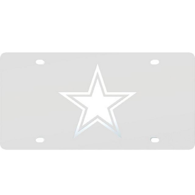 Dallas Cowboys Frost Logo License Plate