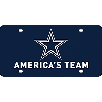 Dallas Cowboys America's Team Expression License Plate