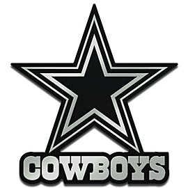 Dallas Cowboys Monochrome Metallic Auto Emblem