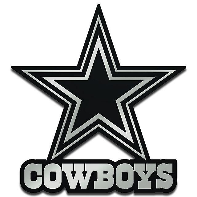 Dallas Cowboys Monochrome Metallic Auto Emblem Automotive