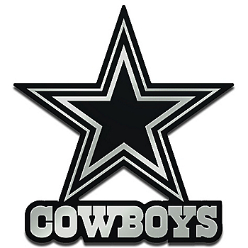 Dallas Cowboys Monochrome Metallic Auto Emblem