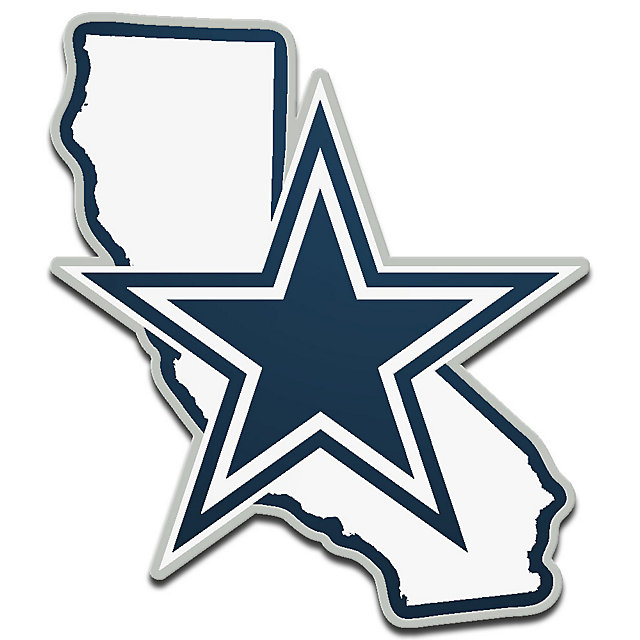 Dallas Cowboys Metaillic White California State Emblem