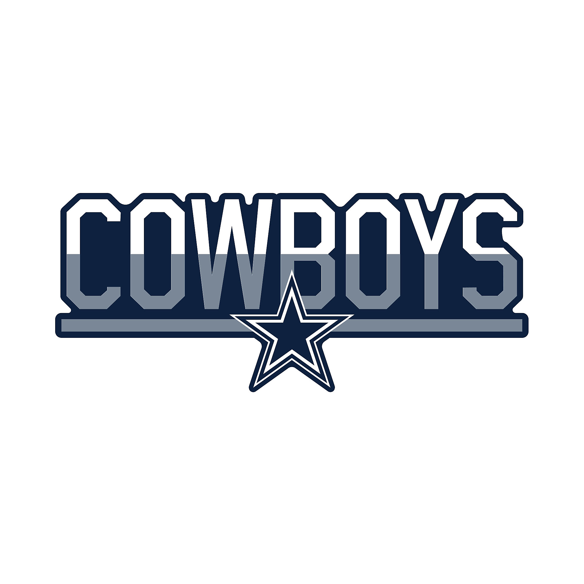 Dallas Cowboys 3x10 Duo Tone Decal