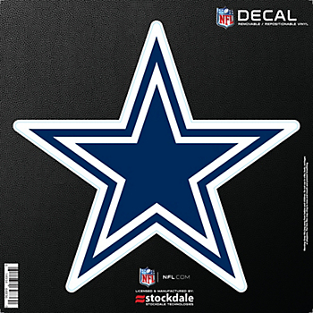 Dallas Cowboys 6x6 Repositionable Logo Decal