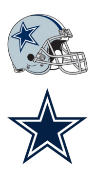 Dallas Cowboys Helmet & Logo Window Decal