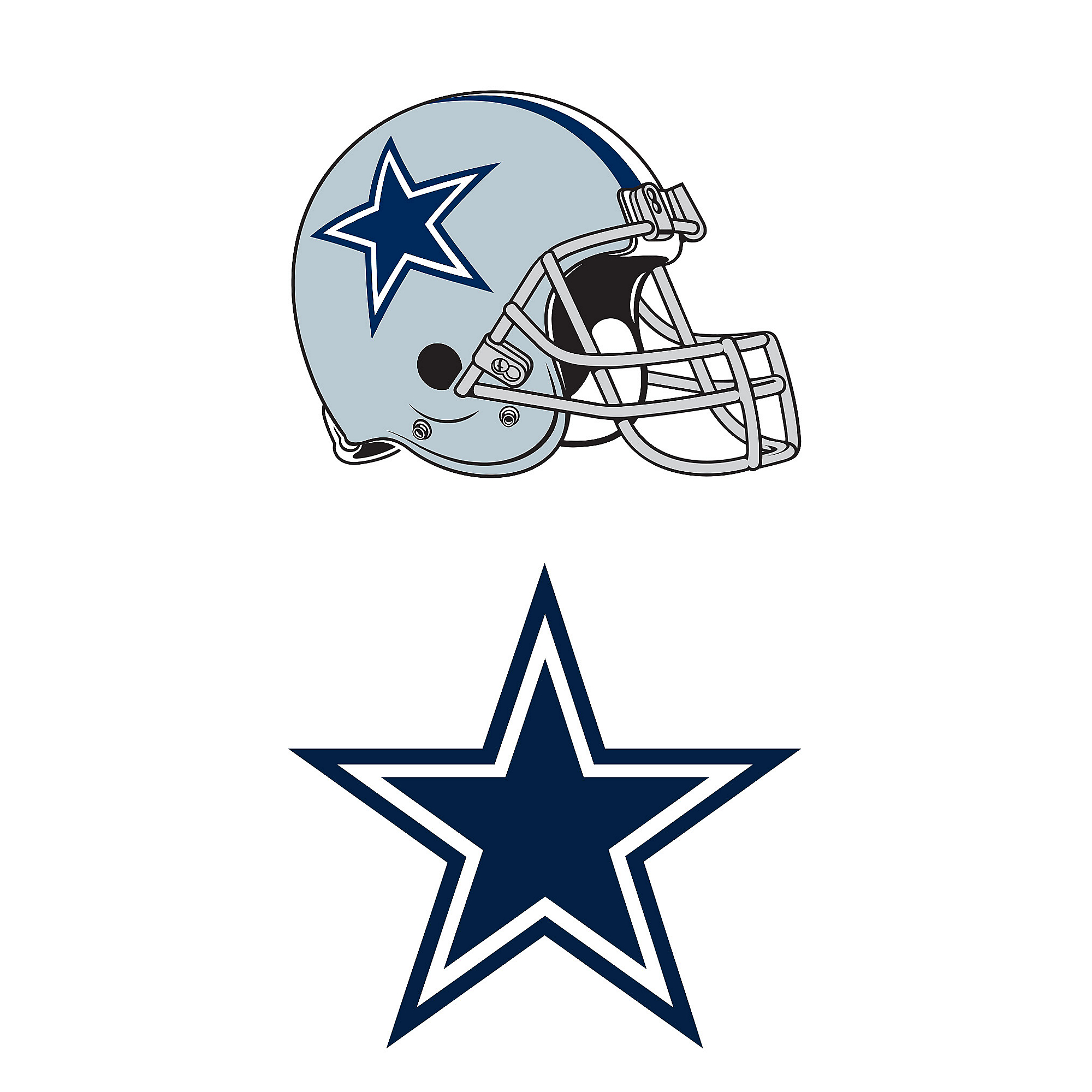 ed2d37e4 Dallas Cowboys Helmet & Logo Window Decal | Dallas Cowboys Pro Shop