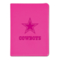 Dallas Cowboys Pink Faux Leather Journal