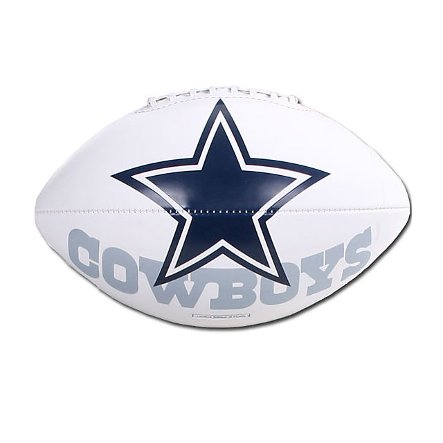 Dallas Cowboys White Panel Autograph Football