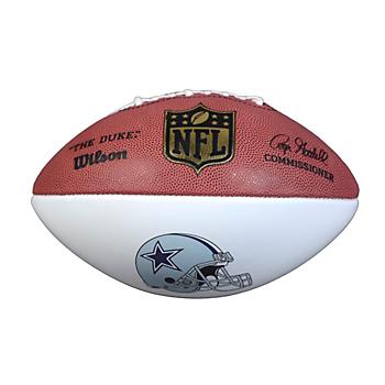 Dallas Cowboys Autograph Football with Helmet Logo