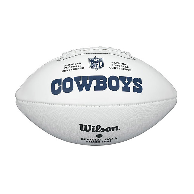 Dallas Cowboys Wilson White Autograph Football