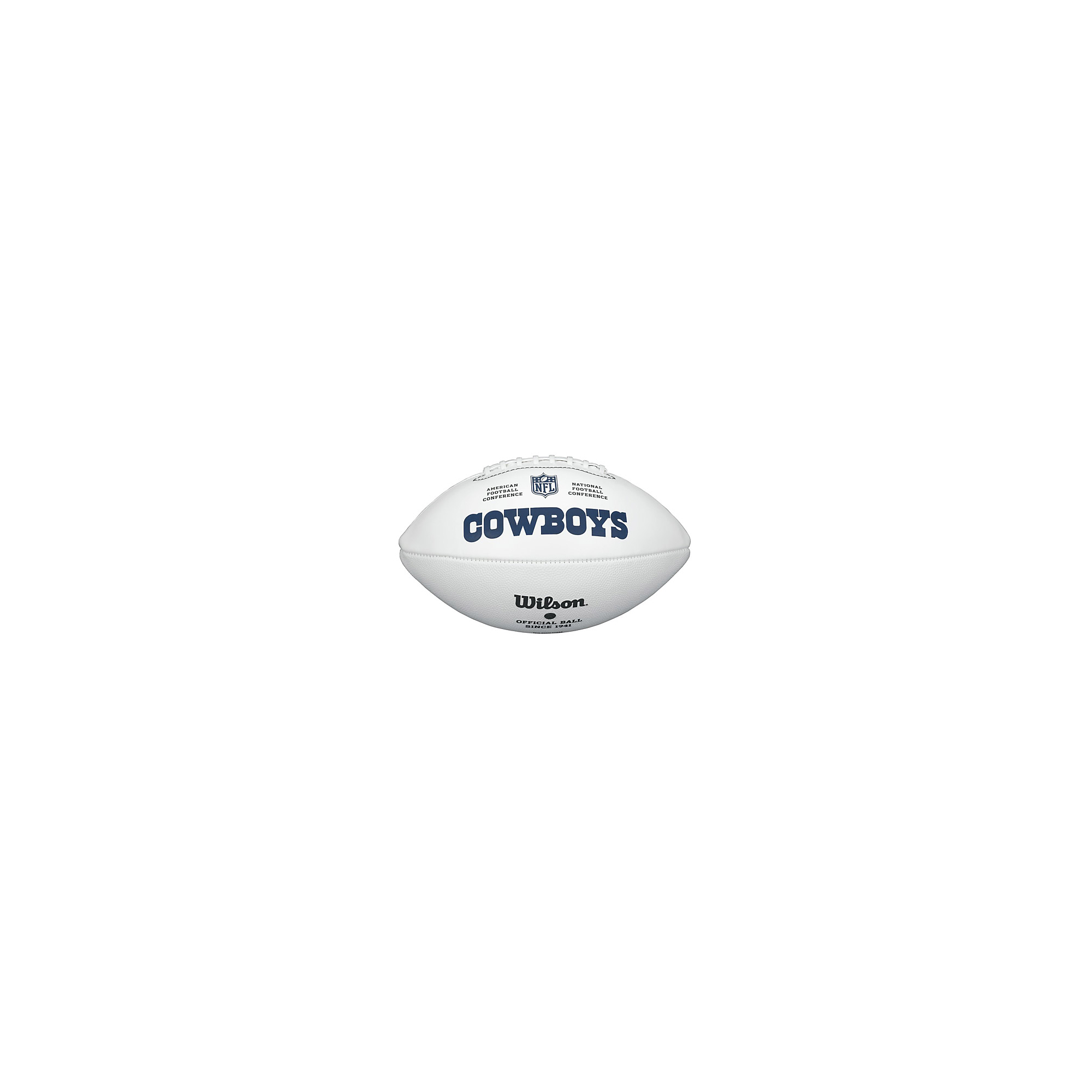 Dallas Cowboys Wilson White Autograph Football