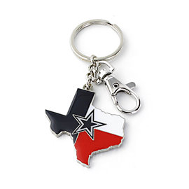 Dallas Cowboys State of Texas Red White & Blue Keyring