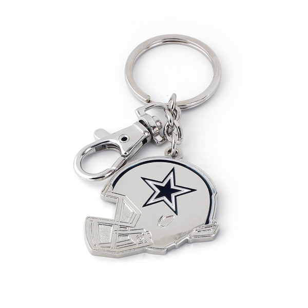 Dallas Cowboys Metal Helmet Keyring