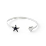 Dallas Cowboys Open Ended Star & Heart Bracelet