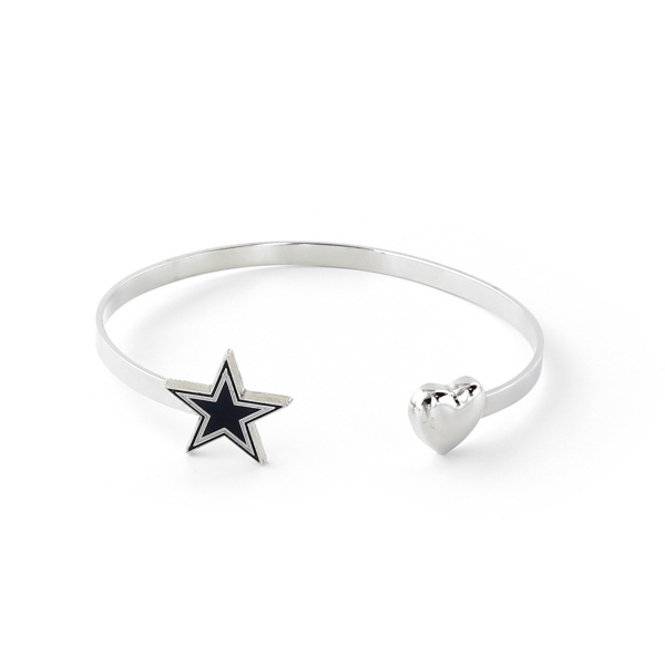 Dallas Cowboys Open Ended Star & Heart Bracelet