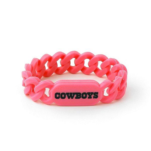 Dallas Cowboys Pink Silicone Link Bracelet