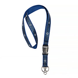 Dallas Cowboys Navy Sparkle Lanyard