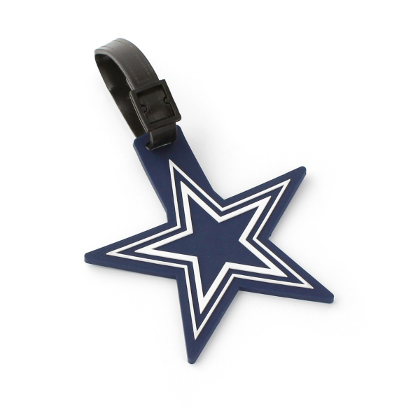 Dallas Cowboys PVC Cut Out Star Bag Tag
