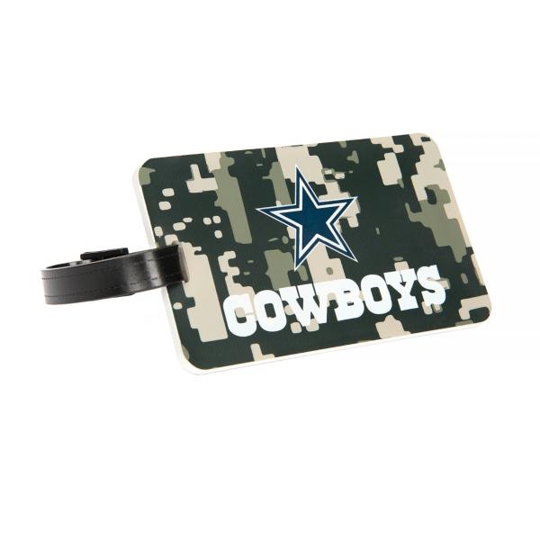 Dallas Cowboys Digital Camo PVC Bag Tag