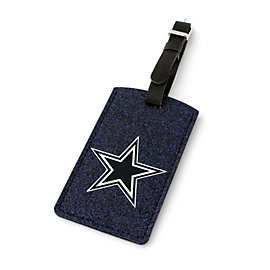 Dallas Cowboys Navy Sparkle Bag Tag