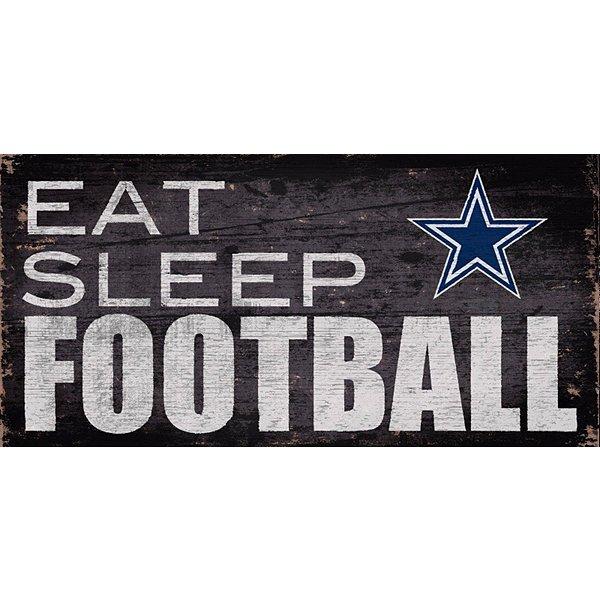 Dallas Cowboys Eat Sleep Football Sign