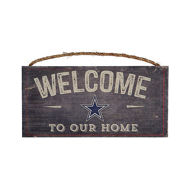 home and decor dallas dallas cowboys welcome home sign home decor home 10883