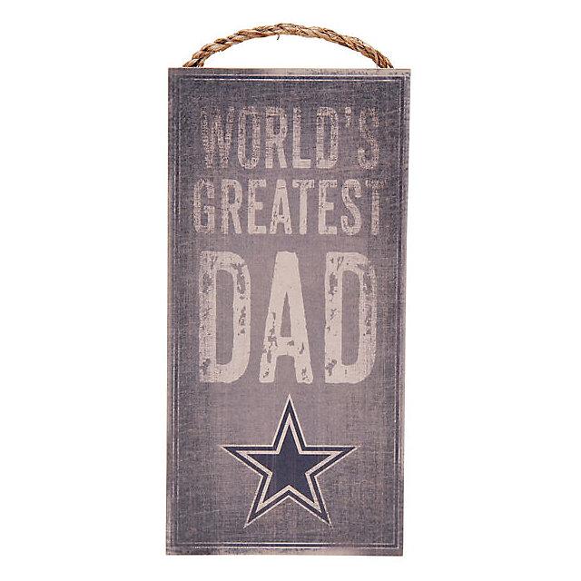 Dallas cowboys world 39 s greatest dad sign home decor for World decor auction san antonio