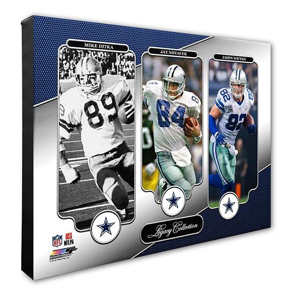 Dallas Cowboys 16x20 Ditka/Novacek/Witten Canvas