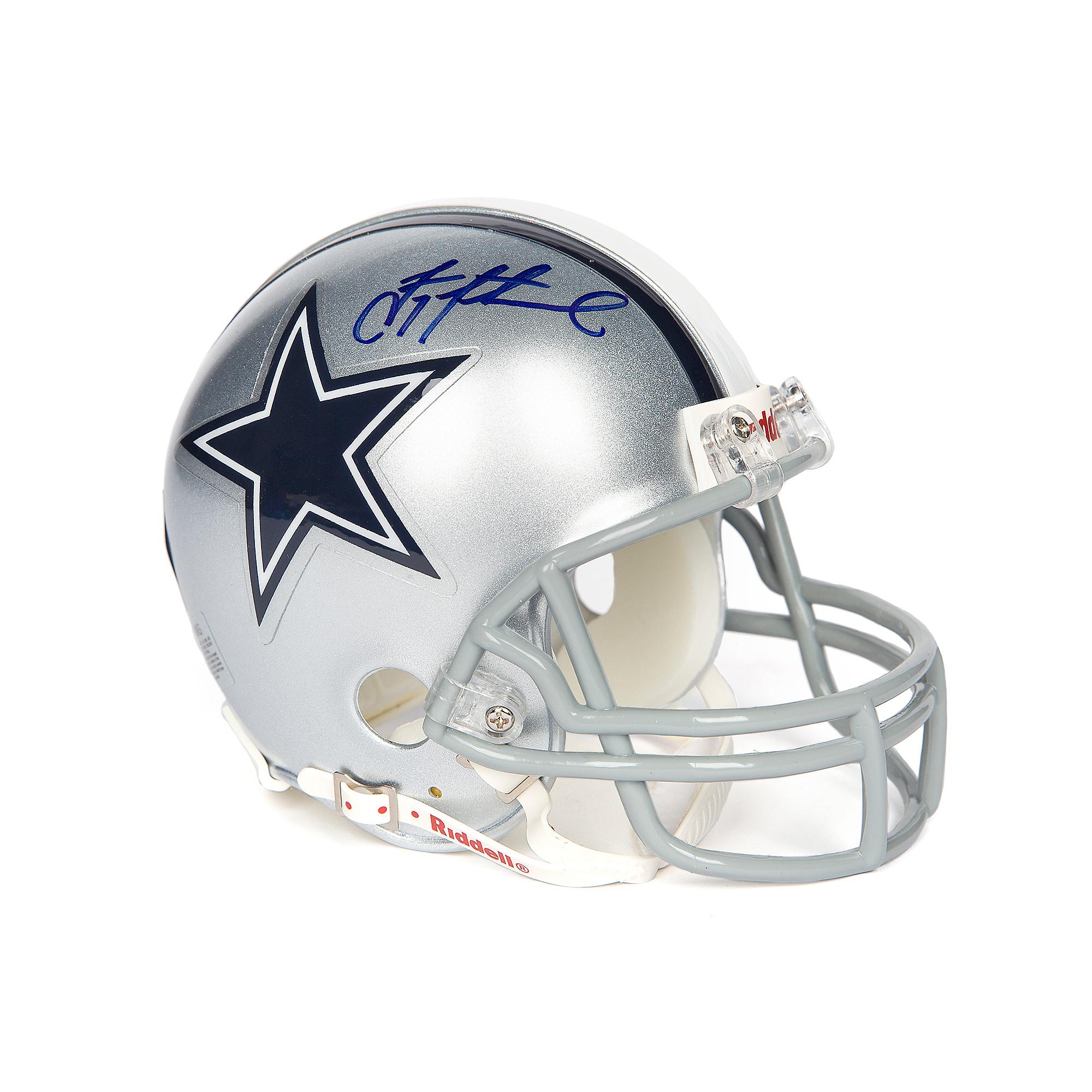 newest 52f2c 544da Dallas Cowboys Troy Aikman Autographed Mini Helmet | Dallas ...