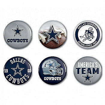 Dallas Cowboys 6-Pack Button Set