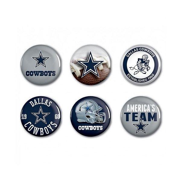 Dallas Cowboys 6-Pack Button Set