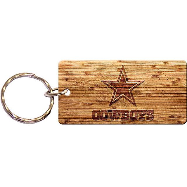 Dallas Cowboys Wood Keychain