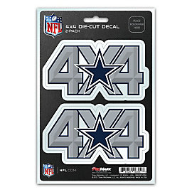 Dallas Cowboys 4 x 4 Decal Pack
