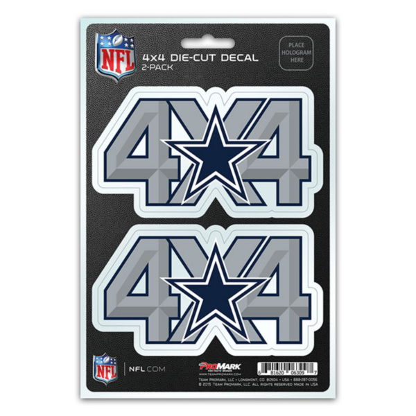Dallas Cowboys 4x4 Decal Set