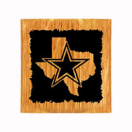 Dallas Cowboys State Coaster/Bottle Opener