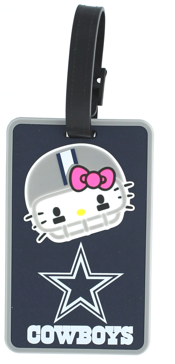 Dallas Cowboys Hello Kitty Helmet Soft Bag Tag