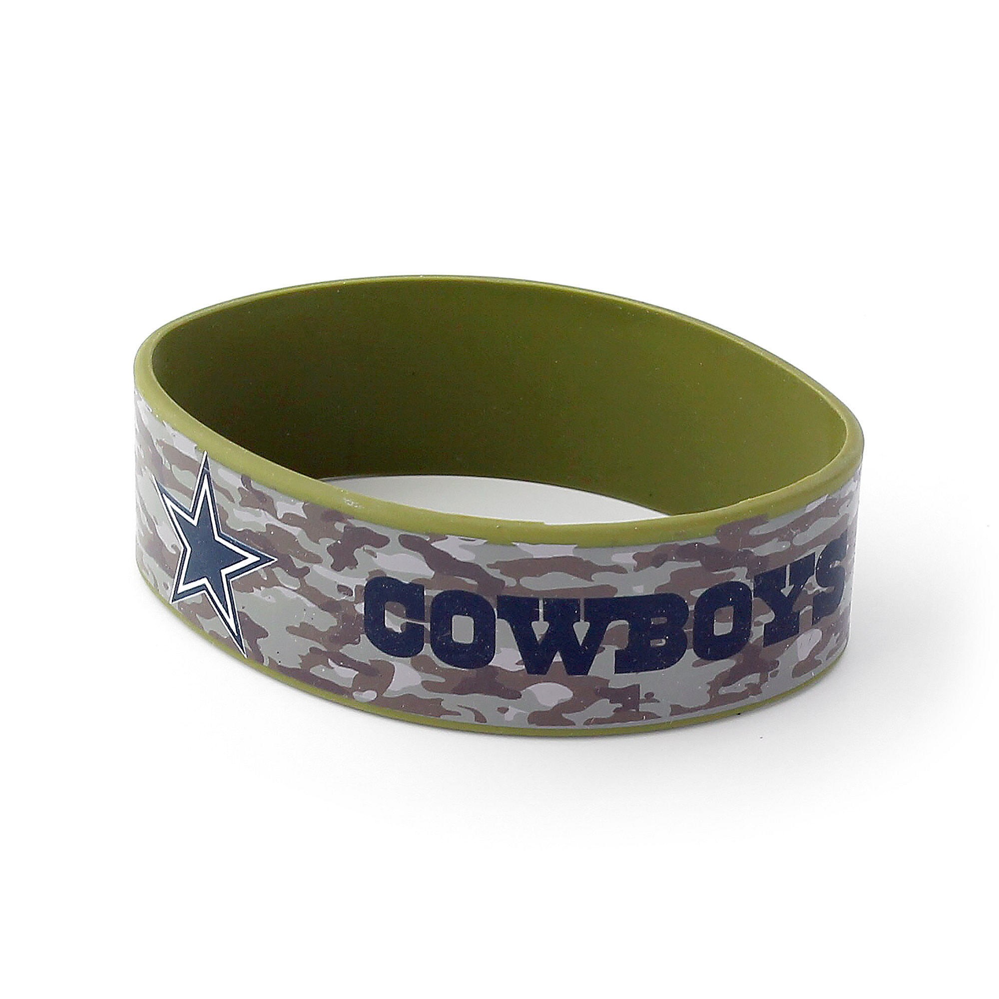 Dallas Cowboys Brown Camo Wide Bracelet