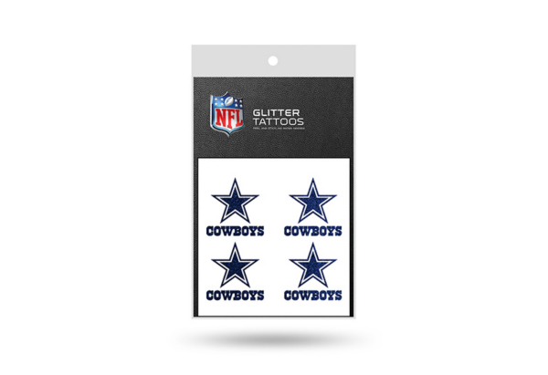 Dallas Cowboys Glitter Tattoos