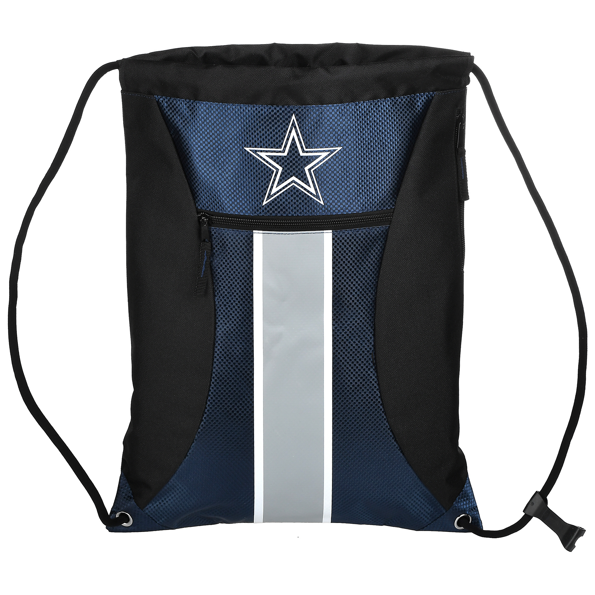 Dallas Cowboys Big Stripe Zippered Drawstring Bag