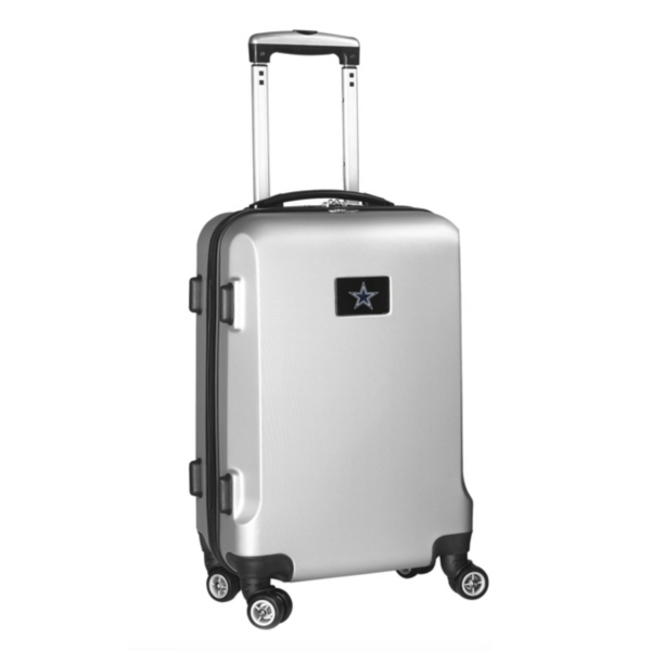"""Dallas Cowboys 20"""" Silver Carry-on Spinner Luggage"""