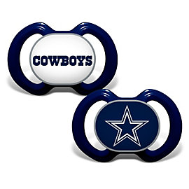Dallas Cowboys 2-Pack Orthodontic Pacifiers