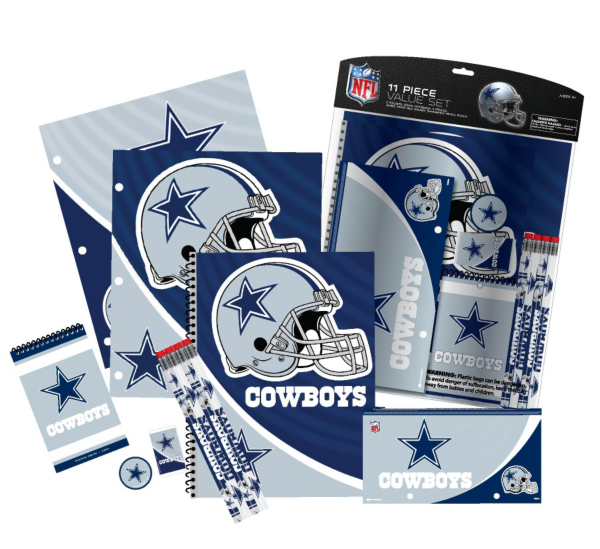 Dallas Cowboys 11-Piece Back to School Stationary Set