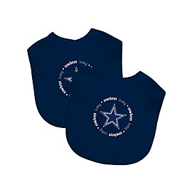 Dallas Cowboys 2-Pack Embroidered Navy Bibs