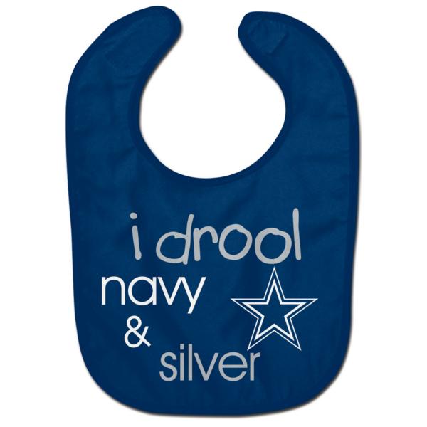 Dallas Cowboys I Drool Navy and Silver Bib