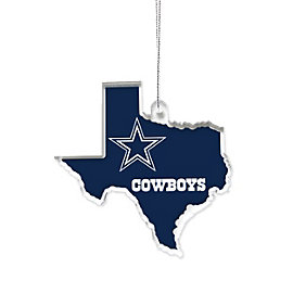 Dallas Cowboys Acrylic State Ornament