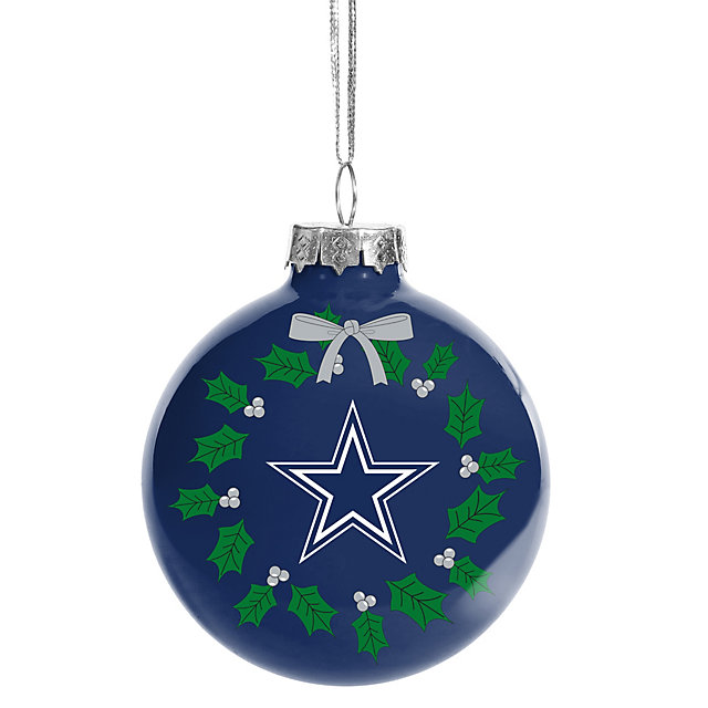 Dallas Cowboys Glass Ball Ornament