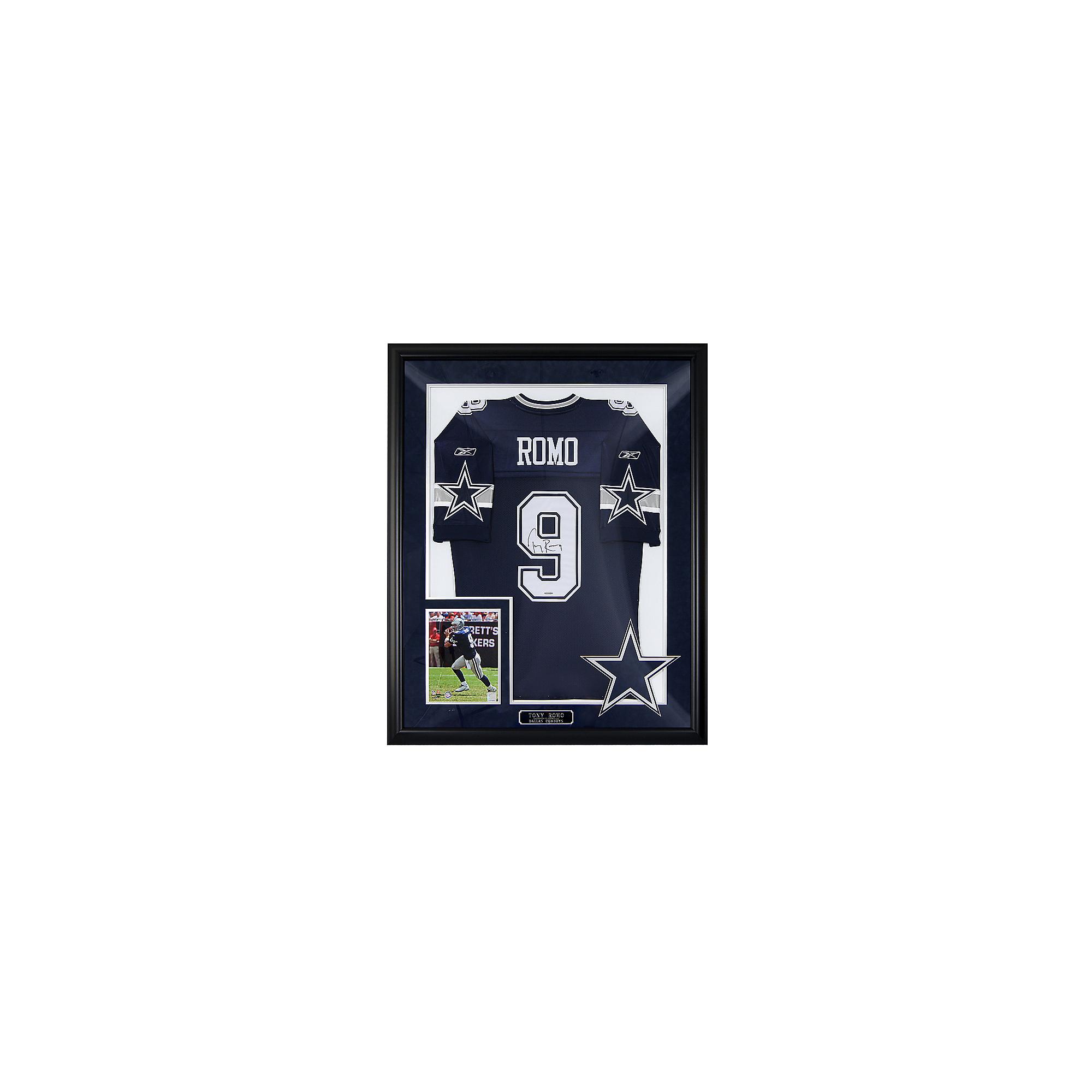 Dallas Cowboys Tony Romo Autograph Framed Away Jersey  b3e5f11e9