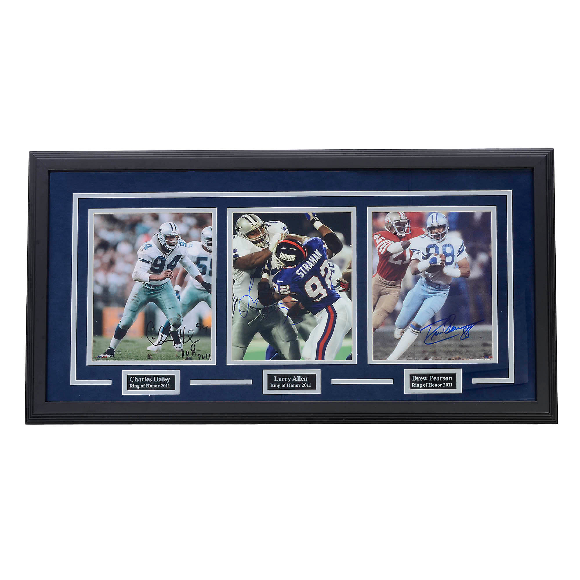 Dallas Cowboys Pearson, Allen and Haley Ring of Honor Autographed Framed Photo
